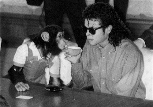 майкл джексон и обезьяна