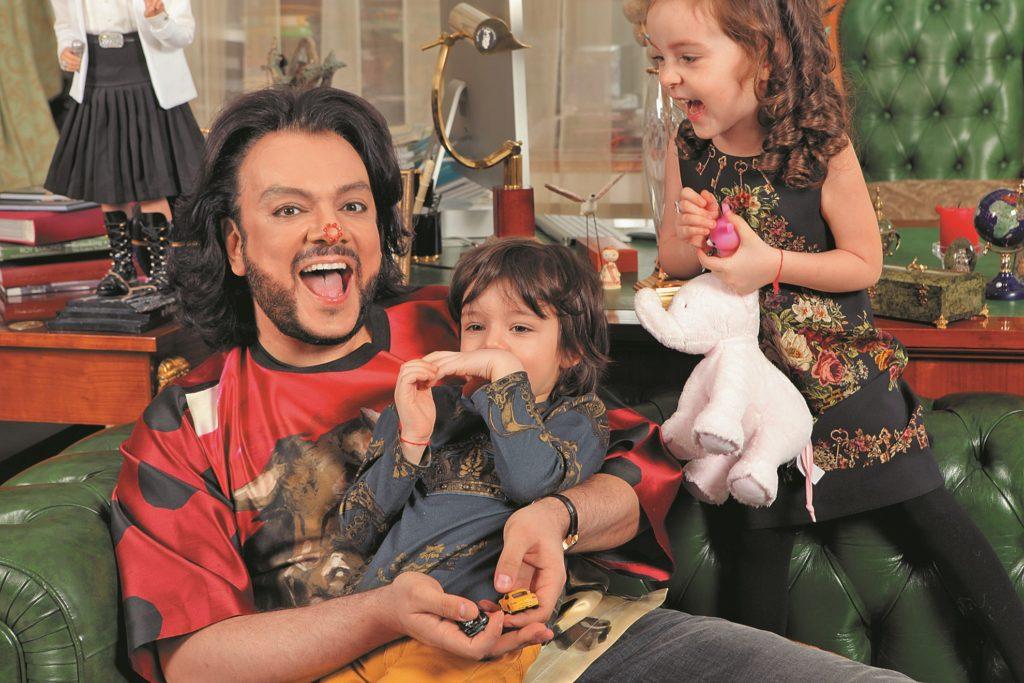 Филипп Киркоров с детьми 3
